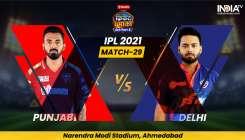 Live Cricket Score Punjab Kings vs Delhi Capitals IPL 2021 updates in hindi from Narendra Modi Stadi- India TV Hindi
