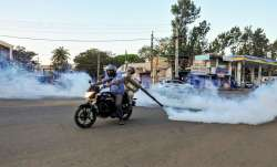 <p>Chikmagalur: Health workers spray...- India TV Paisa