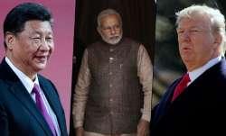 चीन के राष्ट्रपति शी जिनपिंग, भारत के प्रधानमंत्री नरेंद्र मोदी, अमेरिकी राष्ट्रपति डोनाल्ड ट्रंप- India TV Paisa