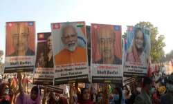Narendra Modi posters in Pakistan pro sindh freedom rally at sann watch video सिंध को अलग देश बनाने - India TV Paisa