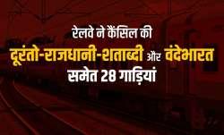 रेलवे ने दूरंतो-राजधानी-शताब्दी और वंदेभारत समेत 28 गाड़ियां कैंसिल की, देखिए पूरी लिस्ट- India TV Paisa