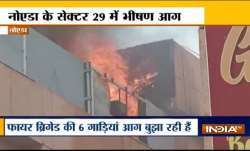 Fire breaks out at Ganga Shopping Complex in Noida's Sector 29- India TV Paisa