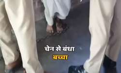 Aligarh madarsa kids chained watch viral video अलीगढ़ के मदरसे में मौलवी की 'टॉर्चर क्लास'! बच्चों क- India TV Paisa