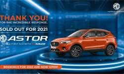 MG Astor SUV की 2021 के लिए बुकिंग हुई फुल; देखें बुकिंग, डिलिवरी, कीमत और फीचर्स की जानकारी- India TV Paisa