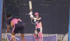Steve Smith Helicopter Shot In Practice Session MS Dhoni Rajasthan Royals- India TV Hindi