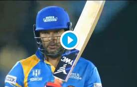 Yuvraj Singh hit four consecutive sixes off four balls in Road Safety Series, see video - India TV Hindi