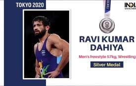 Ravi Dahiya Silver Medal In Tokyo Olympics 2020 freestyle Wrestling 57 kg- India TV Hindi