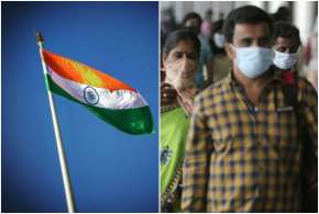 National Flag and people wearing mask - India TV Hindi