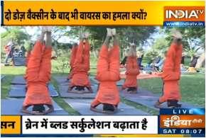 Swami Ramdev shares yoga asanas- India TV Hindi