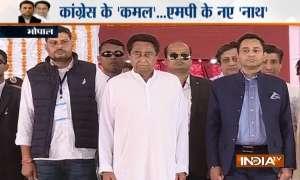 कमलनाथ बने मध्य प्रदेश के 18वें मुख्यमंत्री, पद और गोपनीयता की शपथ ली