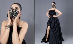 कोरोना वायरस की वजह से बदल गया फैशन, सपना चौधरी ने मास्क पहन कराया फोटोशूट