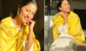 टीवी एक्ट्रेस हिना खान ने फैंस को दी मुस्कुराने की सलाह, ट्रेडिशनल लुक में शेयर की फोटोज