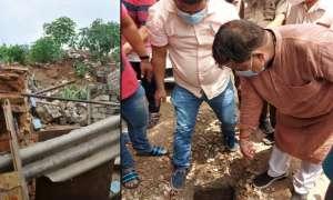 ग्वालियर में मंत्री के पैर रखते ही दीवार ढही, चैंबर में गिरने से बचे प्रद्युम्न सिंह