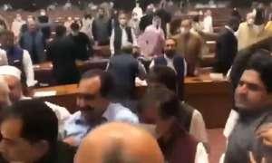 पाकिस्तान की संसद चले लात-घूंसे, मां-बहन को गाली