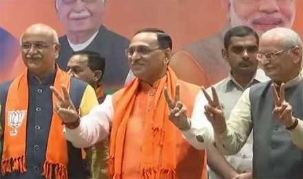 जीत के बाद बोले CM रुपाणी, 'पीएम मोदी पर जनता का अटूट विश्वास, CM का फैसला पार्लियामेंट्री बोर्ड करेगा'