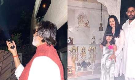 कोरोना वायरस: अमिताभ बच्चन ने जलाई टॉर्च तो ऐश्वर्या राय ने मंदिर में जलाया दीया