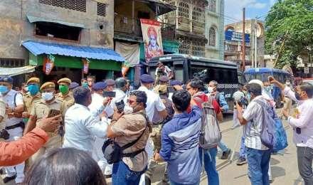 पुलिस ने उखाड़ा मंच, फिर भी बंगाल BJP ने किया मारे गए पार्टी कार्यकर्ताओं का 'तर्पण'