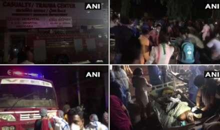 Vadodara के Sir Sayajirao General Hospital के कोरोना वार्ड में लगी आग