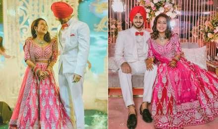 पति रोहनप्रीत सिंह के साथ स्टनिंग अवतार में नजर आईं नेहा कक्कड़, पिंक कलर के लहंगा में दिखीं खूबसूरत