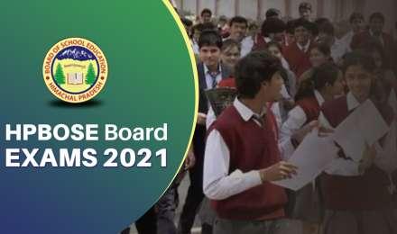 HPBOSE Board Exams 2021: हिमाचल प्रदेश बोर्ड ने जारी की 10वीं और 12वीं परीक्षाओं की डेटशीट
