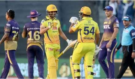 KKR vs CSK, IPL 2021 : सीएसके ने केकेआर पर दर्ज की 2 विकेट से रोमांचक जीत