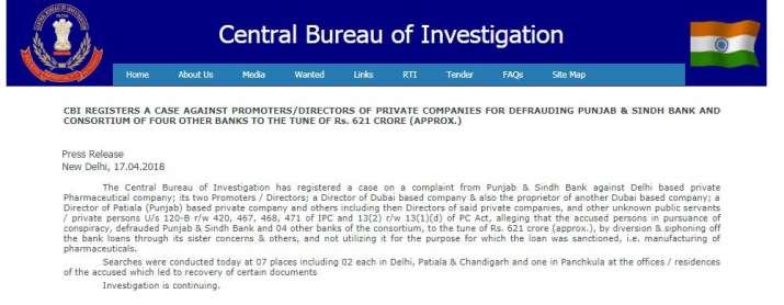 CBI register case