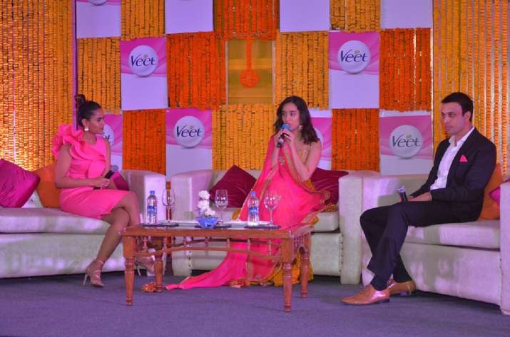 Pankaj Duhan Chief Marketing Officer RB South Asia Health and Shraddha Kapoor speaking at the launch