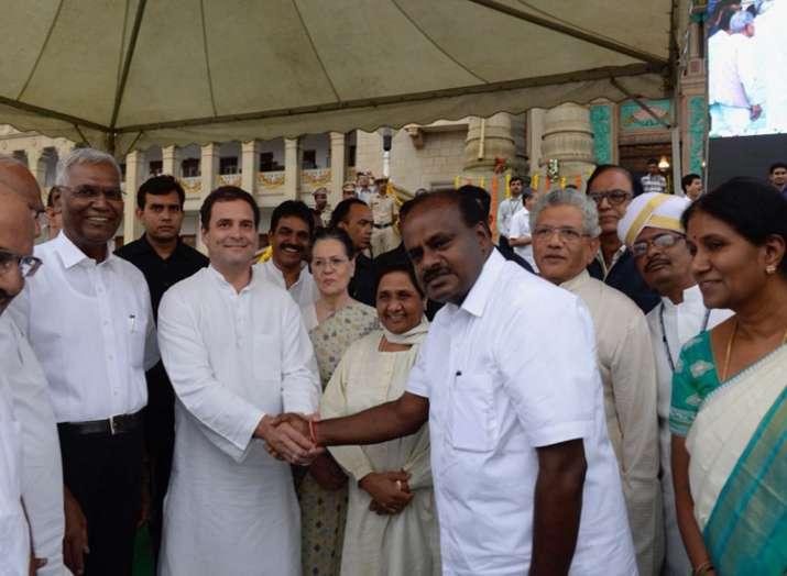 rahul gandhi extends his best wishes to the newly sworn-in Karnataka CM kumaraswamy
