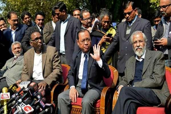 Justice Ranjan Gogoi at a press confrence