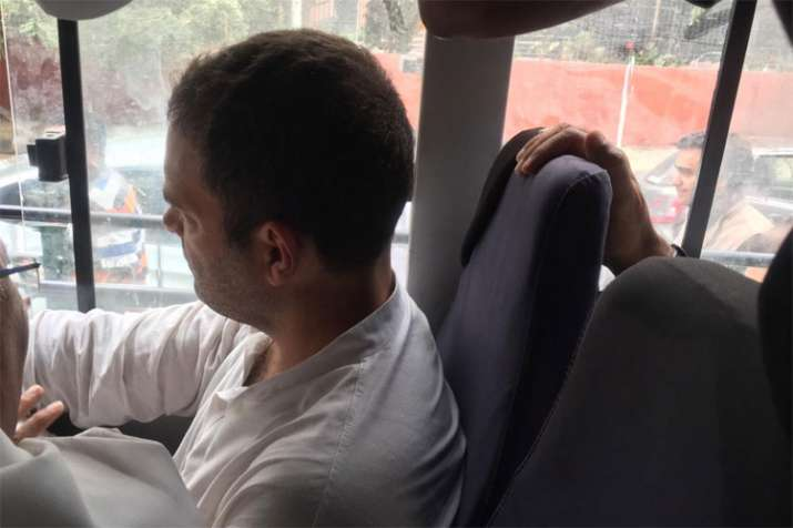 Rahul Gandhi leads Congress protests