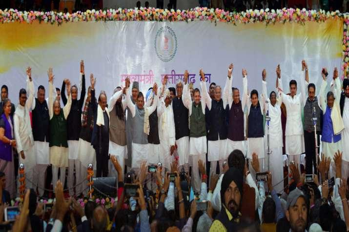 Congress CMs' swearing-in