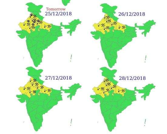 Weather forecast for next 4 days by IMD