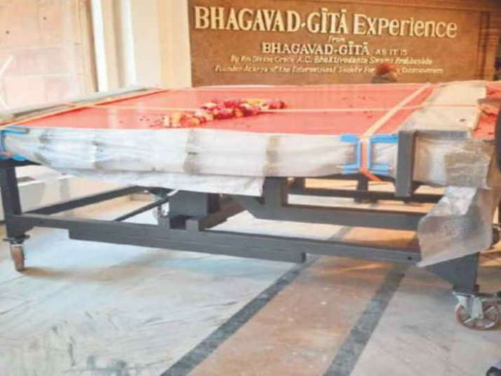 800 kg iskcon bhagvad gita to be largest sacred text pm modi to unveil in delhi