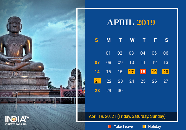 April long weekend 2019