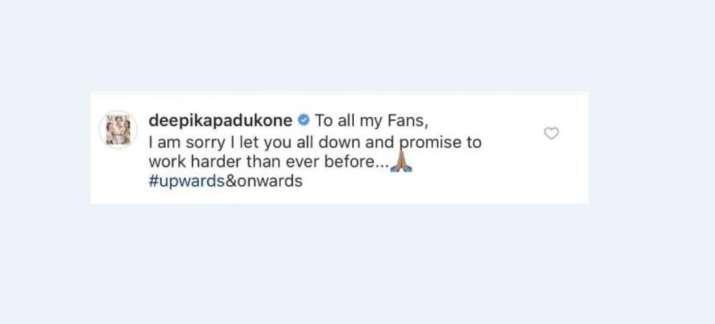 Deepika Padukone's comment