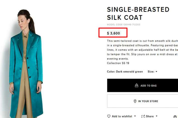 Single-breasted silk coat