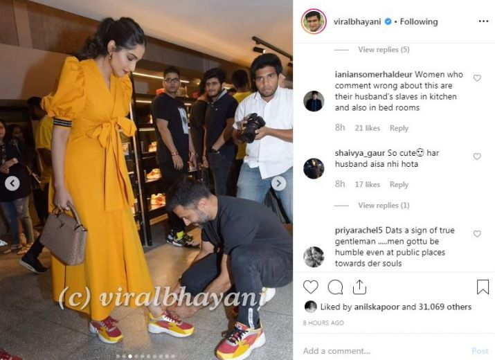 Reaction of fans on viral photo of sonam kapoor and anand ahuja