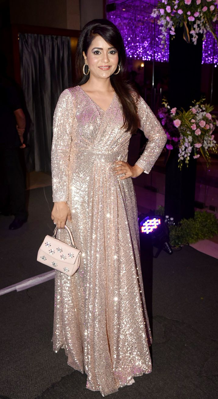 India Tv Anchor charul malik at ssharad malhotra pre wedding function