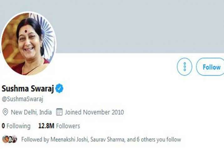 sushma swaraj twitter handle