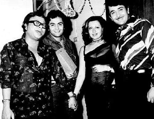 Pancham Da with Randhir and Rishi Kapoor