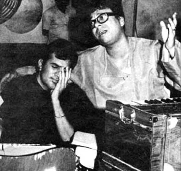 RD Burman with Rajesh Khanna