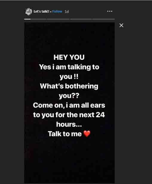 Screenshot of rohman shawl Instagram story