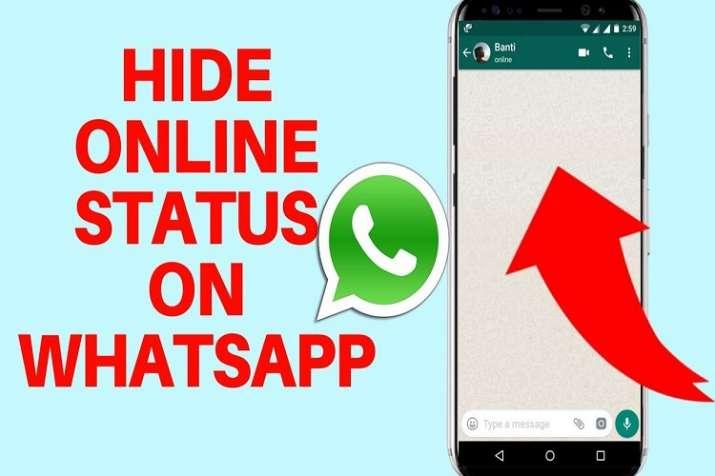 hide online status on whatsapp