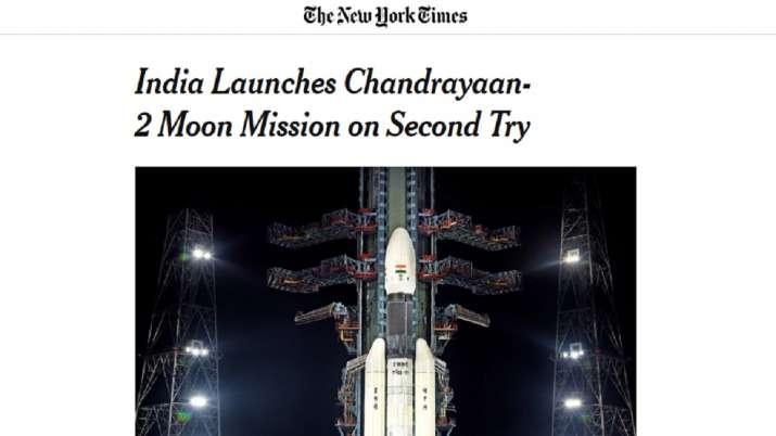 International Media coverage on Chandrayaan-2 Moon Mission