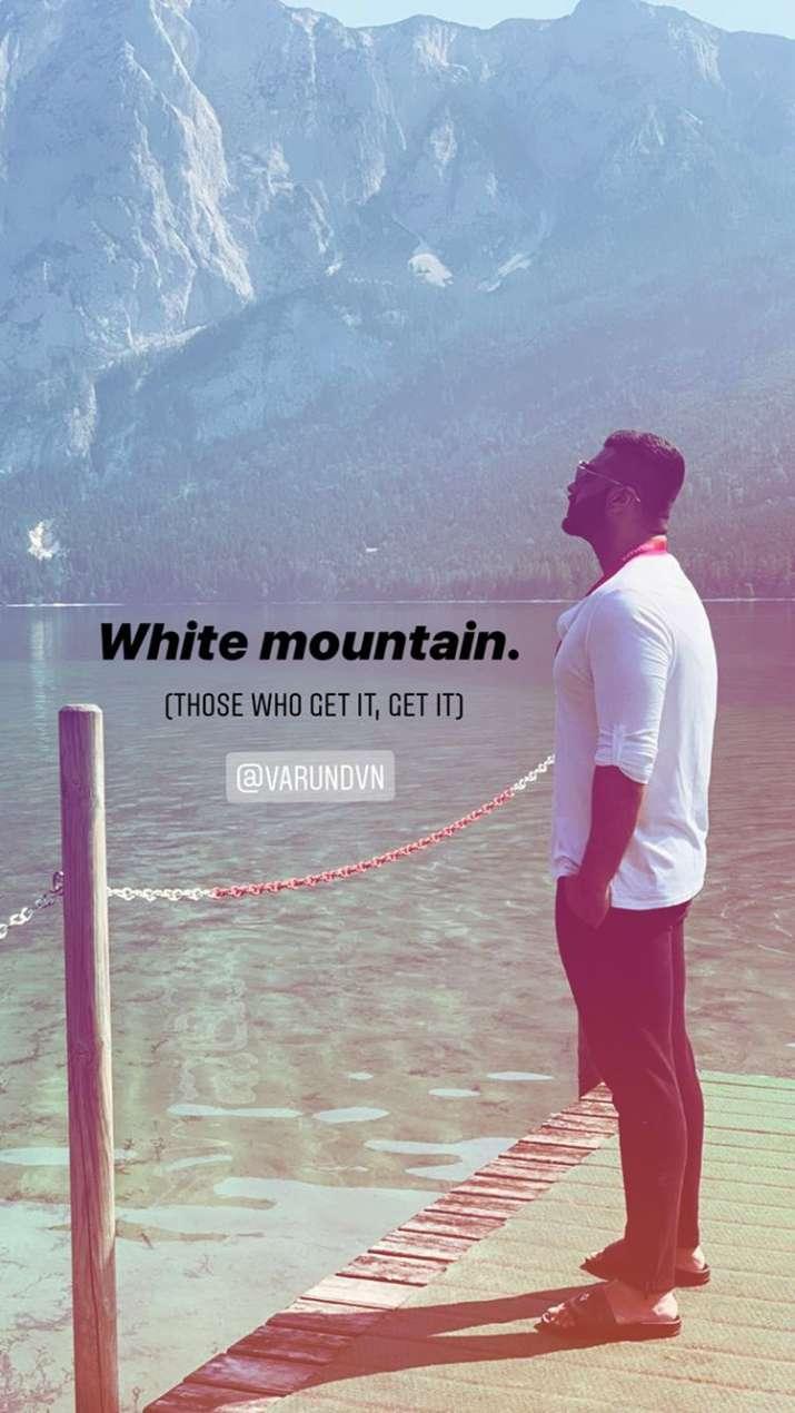 Screenshot of Arjun kapoor Instagram story