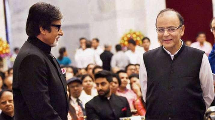 Amitabh Bachchan with Arun Jaitley
