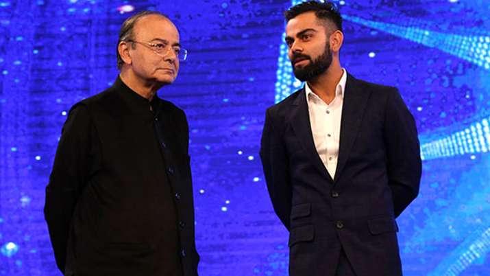 Virat Kohli with Arun Jaitley