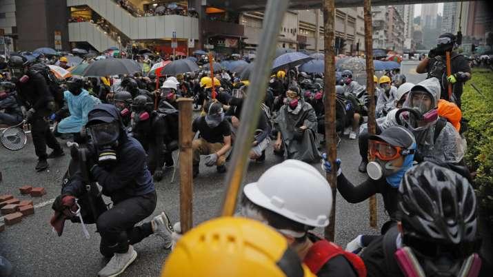 Hong Kong police arrest 36, youngest aged 12, after violent protests   AP