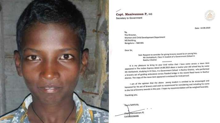 The 12-year-old braveheart puts his life in danger to lead an ambulance through a flood bridge in Ra