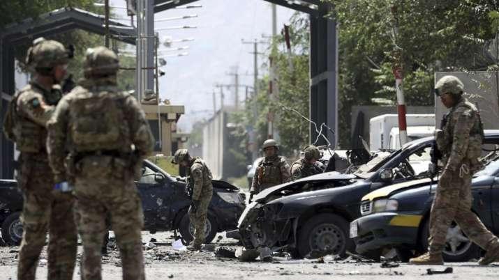 Taliban blast in Kabul kills 12 including US and Romanian soldiers